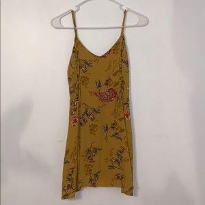 Mustard yellow mini summer dress